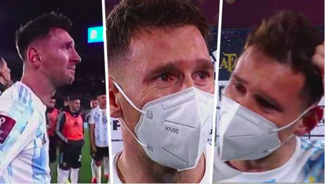 MESSI CRYING ARGENTINA COPA AMERICA