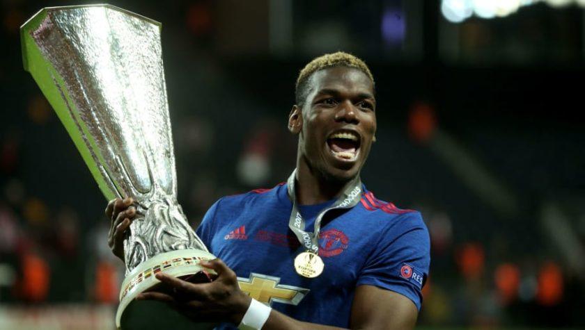 Paul Pogba PP Manchester United Manutd Europa League champions